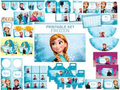 INSTANT DOWNLOAD Frozen Disney, Anna, Elsa, Hans, Kristoff, Alof, Printable Kit Birthday Party Decoration Frozen, Candybar, Printable labels