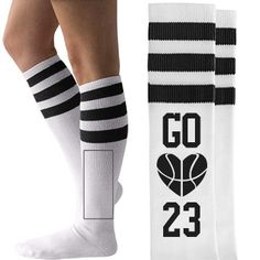 Basketball Girlfriend Unisex American Apparel Striped Knee-High Socks