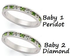 My #1 gift idea for Mother's Day. 2 Stackable rings with my kids birthstones (peridot and diamond)     Macy's - Traditions Sterling Silver Rings.