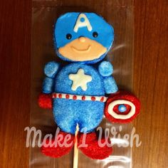 Marshmallow Captain America Pop