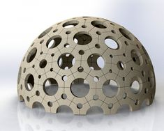 concrete dome constructed of 4 brick types Great Buildings And Structures, Modern Buildings, Geodesic Sphere, Bubble House, Dome Structure, Geometric Construction, Dome Greenhouse, Precast Concrete, Dome House