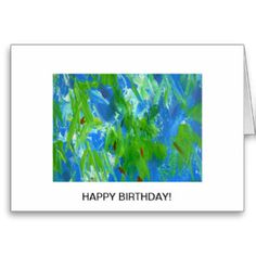 This beautiful birthday greeting card with its lovely fresh colors is ideal to send someone special.