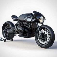 "bike-exif: ""Via @ziggymoto: a BMW R NineT concept with conventional forks. We're sold. #bmw #caferacer #concept #caferacersofinstagram #motorcycle #bikeexif """