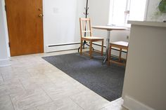 How to Cut An Easy Half-Circle Rug >> http://blog.diynetwork.com/maderemade/how-to/diy-cut-a-circle-rug/?soc=pinterest