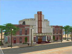 Mod The Sims - Simiety Vintage Theater (Minimal CC!)