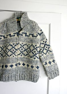 Vintage Child's Cowichan Sweater Handmade by TheVintageNursery, $55.00