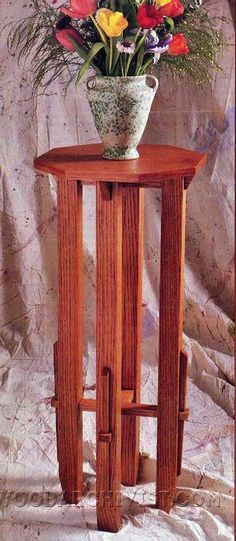 Plant Stand Plans - Furniture Plans and Projects - Woodwork, Woodworking, Woodworking Plans, Woodworking Projects