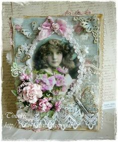 Good Eve Everyone, This week the Design Team is showcasing the beautiful papers from Reprint. They've been very popular and sold out ov. Shabby Chic Karten, Shabby Chic Cards, Shabby Chic Frames, Crafts Beautiful, Beautiful Handmade Cards, Lawn Fawn, Slider Card, Vintage Wedding Flowers, Happy Friday