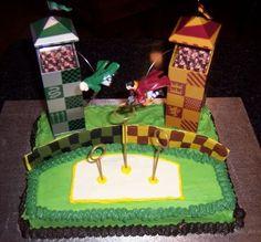 ... Cake, Birthday Cake, Birthday Ideas, Harry Potter Quidditch Cake