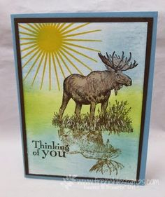Walk in the Wild reflection more masculine card every Monday at www.frenchiestamps.com