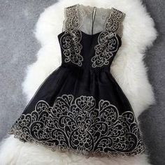 Black Lace Dress #100