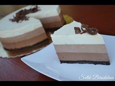 SÜTIK BIRODALMA: Tripla csokoládés joghurttorta Mousse, Oreo, Panna Cotta, Cheesecake, Pudding, Ethnic Recipes, Food, Pane, Youtube