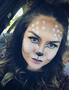 Bambi deer makeup