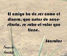 Frases de amistad célebre de Sócrates