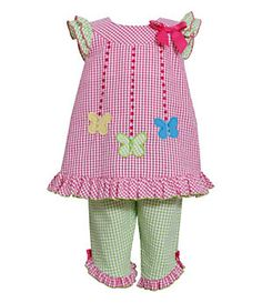 Bonnie Baby 3-24 Months Butterfly Seersucker Dress Pant Set | Dillard's Mobile