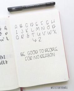 Uppercase alphabet + quote 🇮🇹Alfabeto in stampatello e citazione del giorno ❤️ . Hand Lettering Alphabet, Doodle Lettering, Handwritten Letters, Lettering Styles, Block Lettering, Brush Lettering, Typography, Uppercase Alphabet, Decorative Lettering