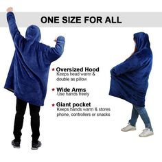 Made of ultra-soft fleece and lined with warming. One size fits all- roomy enough to cover you from head to toe Extra large hood keeps your head comfy and warm Family Game Night, Family Games, Sweat Shirt, Keep Warm, Warm And Cozy, Pink Grey, Red And Pink, Comfy Blankets, Winter Must Haves