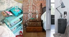 Have you ever seen such a collection of unique nightstands? Some of these are incredibly inventive. #uniquedecor #nightstands #bedroom