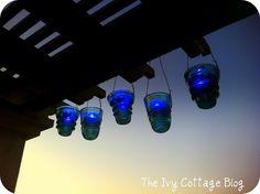 Outdoor lights from glass insulators