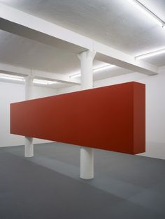 Red Slab in Space (1993) // Simon Ungers