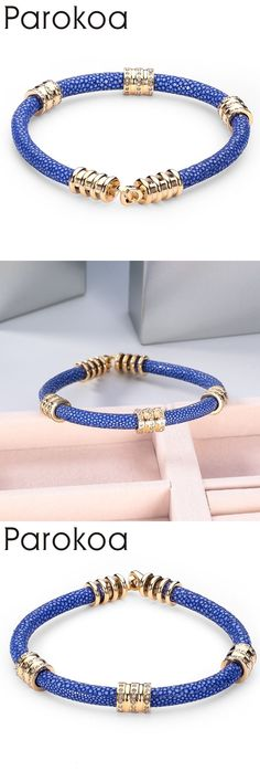 2016 New Top Quality genuine stingray leather Bracelets & Bangles Luxury Thailand Leather jewelry For Men Unisex Brand Bracelet #leatherjewelry