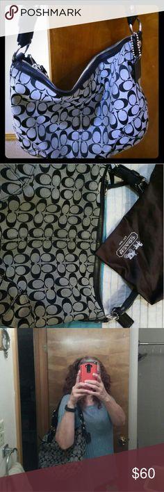 """Coach soho bag Style: 11859 Description: Coach Soho Black Signature Large Hobo Bag Color: Black Size: 13""""(L) x 10.5""""(H) x 3.5""""(W) Price: S$ 357 / RM 855 Coach Bags Shoulder Bags"""