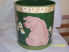 Same as other piggy Over The Years, Folk Art, Tapestry, Canning, Hanging Tapestry, Tapestries, Popular Art, Home Canning, Needlepoint