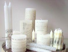 DIY: stamped candles