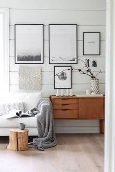 Shiplap Decorating Ideas White Gallery Wall