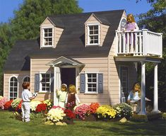 Kids playhouse.....sadly, this is a better house than mine....lol