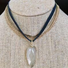 A personal favorite from my Etsy shop https://www.etsy.com/listing/463198650/quartz-arrowhead-leather-chain-choker
