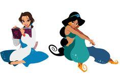 belle and jasmine