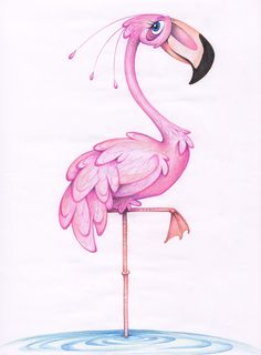Flamingo by Fli-nn on DeviantArt Flamingo Painting, Flamingo Art, Pink Flamingos, Illustrations, Illustration Art, Flamingo Illustration, Flamingo Tattoo, Pink Bird, My Spirit Animal