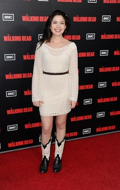 """Grace Phipps Photos - Actress Grace Phipps arrives at the premiere of AMC's """"The Walking Dead"""" Season at LA Live Theaters on October 2011 in Los Angeles, California. - Premiere Of AMC's """"The Walking Dead"""" Season - Arrivals Role Models, Female Models, Grace Phillips, Teen Beach 2, Full Body Gym Workout, Photo L, Best Actress, Peplum Dress, Hollywood"""