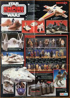 Vintage Palitoy Star Wars Empire Strikes Back toy poster. Star Wars Figurines, Star Wars Toys, Retro Toys, Vintage Toys, Childhood Toys, Childhood Memories, Jouet Star Wars, Figuras Star Wars, Star Wars Set