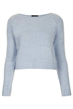 421d2977ed8 Knitted Fluffy Crop Jumper xx Pastel Fashion