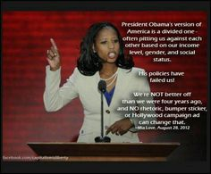 Bravo Mia Love!!!!   I am so impressed with this young lady.  If only we had more like her.