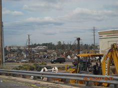 Tuscaloosa Alabama April 2011 EF4 tornado damage on 15th Street near Taco Casa. Photo taken on 4/18/11 -- by #amyalohio via photobucket (follow amyalohio on pinterest here http://pinterest.com/amyalohio/boards)