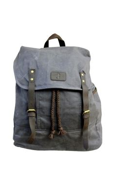 J. Campbell Leather Strap Backpack