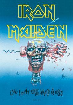 La Boutique de Drapeaux du Groupe Iron Maiden - Rock A Gogo Dad Tattoos, Music Tattoos, Iron Maiden Cover, Iron Maiden Posters, Eddie The Head, Heavy Metal Art, King Diamond, Rock Cover, Metal Albums