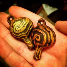 Mokume-Gane Relic Wowflutes straight from the kiln. Swirled copper, bronze, and steel. Flutes, Whistles, Precious Metals, Making Out, Metal Working, Copper, Bronze, Note, Steel