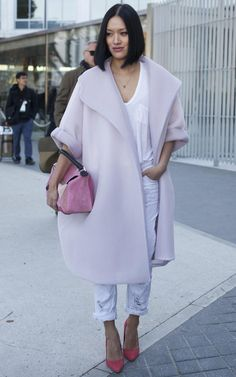 tiffany hsu pink coat
