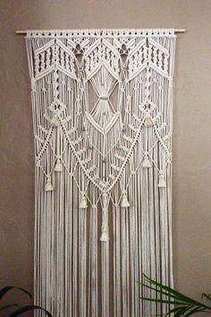 Grande Macrame colgante de pared tapicería boda por MacrameElegance