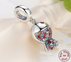 BAMOER New Collection 925 Sterling Silver Lovely Colorful Zircon Fish Pendants fit Bracelet & Necklace Outfit Accessories From Touchy Style Pandora Bracelet Charms, Charm Bracelets, Necklace For Girlfriend, Fitness Bracelet, Sterling Silver Flowers, Girls Necklaces, Metal Beads, Charm Jewelry, Diy Jewelry