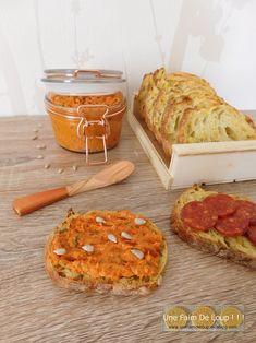 Rillettes de chorizo - Une Faim De Loup ! ! ! Macaron Foie Gras, Chorizo, Dairy, Cheese, Buffet, Cooking Recipes, Catering Display, Lunch Buffet