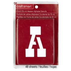 <div>These sizeable letter stencils are great for posters and signs. They provide a quick and ea...