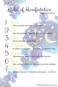 Rules of Manifestation Rules of Manifestation More from my site Full Moon Ritual for Beginners 🖤 Everyday witchcraft I Am A Witch 🌙 So cute! Witch Spell Book, Witchcraft Spell Books, Wiccan Witch, Wiccan Spells, Magick, Healing Spells, Witch Rituals, Hoodoo Spells, Moon Spells