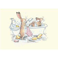 Illustration by Anita Jeram Bunny Art, Cute Bunny, Toys Drawing, Anita Jeram, Images Vintage, Rabbit Art, Children's Picture Books, Children's Book Illustration, Cute Drawings