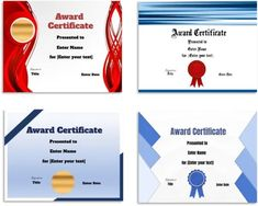 Free Editable Certificate Template   Customize Online & Print at Home Certificate Maker, Award Certificates, Certificate Templates, Student Awards, Online Printing, Names, Free, Award Display, Student Rewards