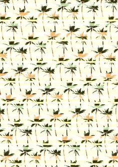 striped palms print pattern Textiles, Textile Patterns, Textile Prints, Print Patterns, Art Prints, Pattern Art, Pattern Design, Print Design, Graphic Design